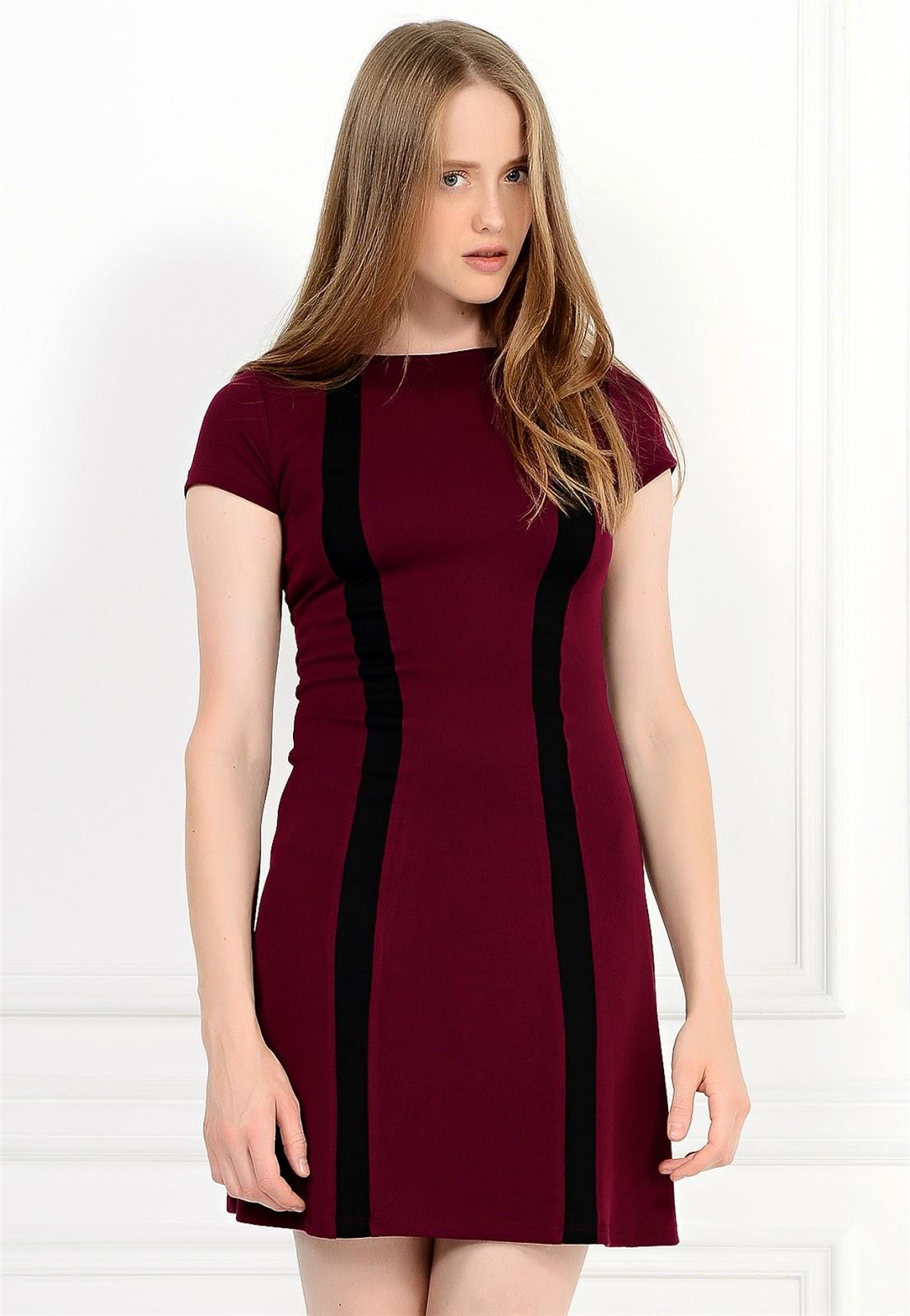 bordo elbise, garnili elbise, kolsuz elbise, dar elbise, kısa elbise, 2015 elbise modelleri, adil ışık elbise