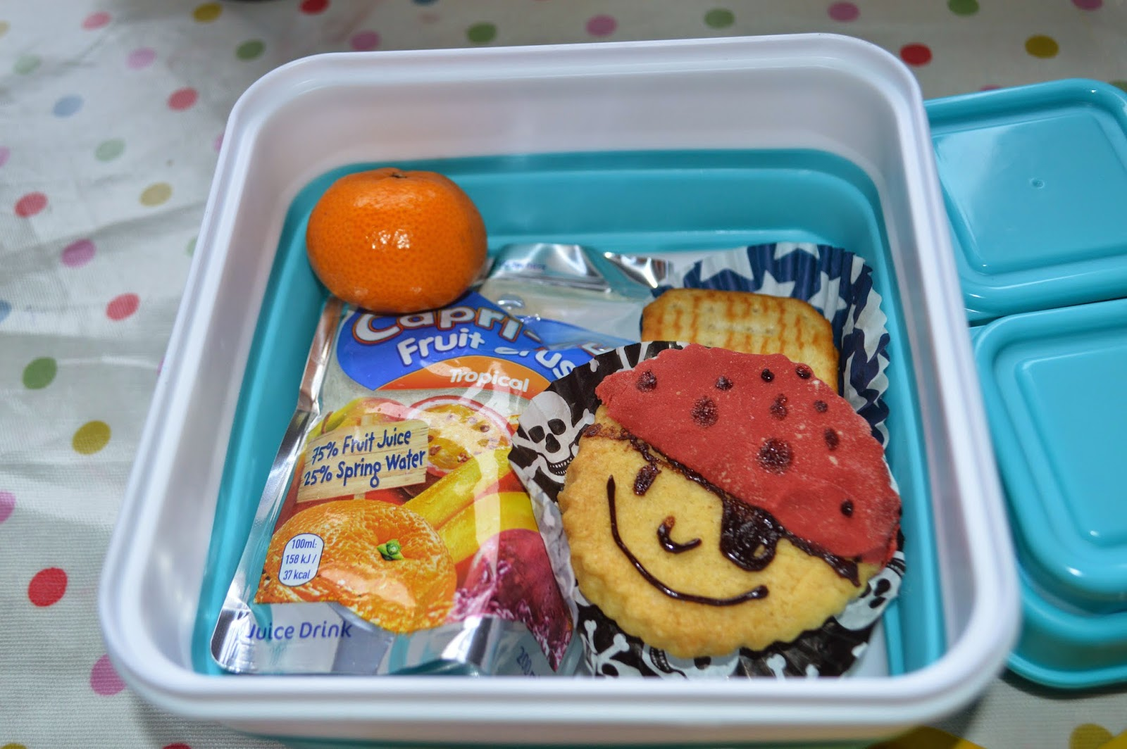 Capri Sun School  Healthy Lunch Box Pirate Themed Packed Lunch