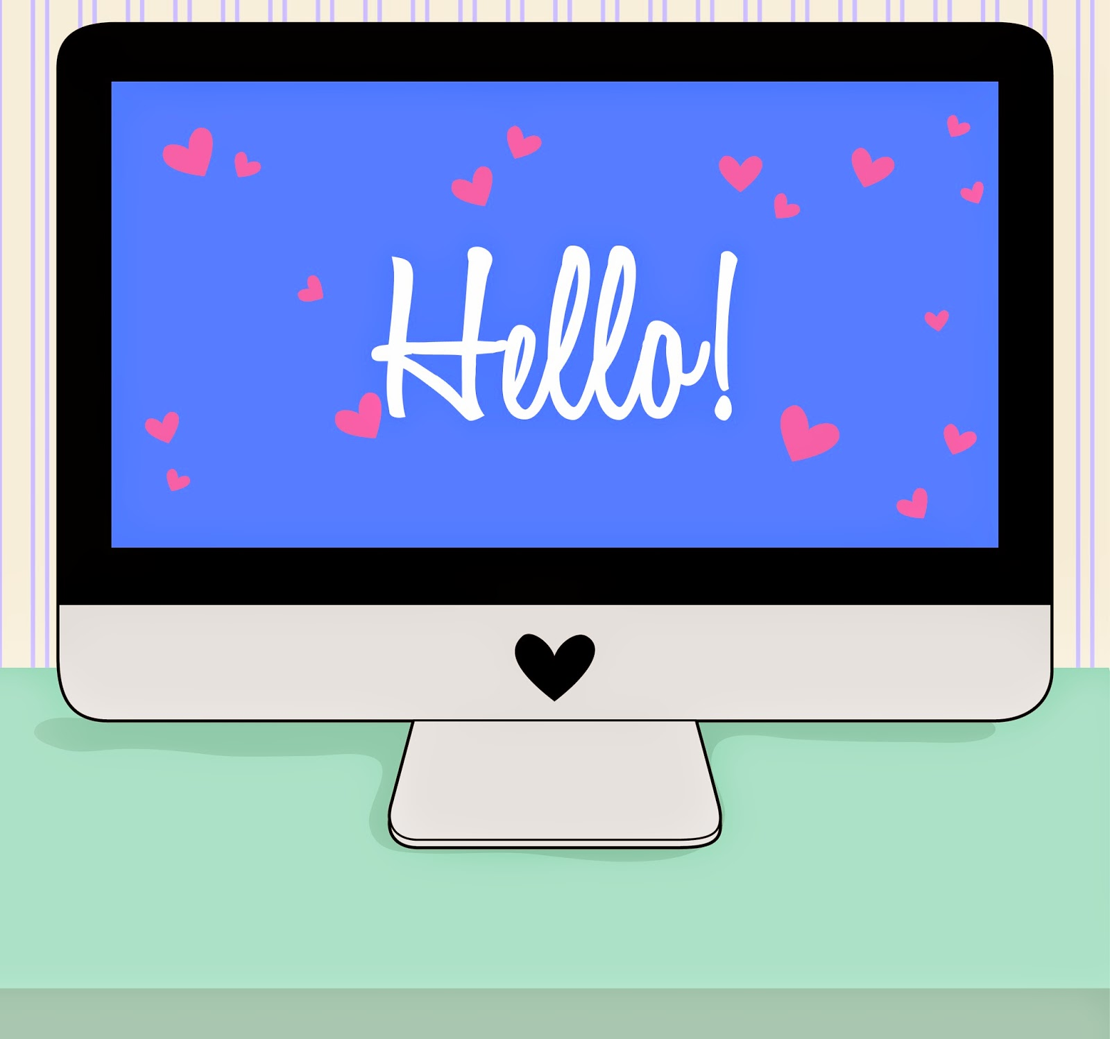 hello-computer, digital-time-capsule, computer-with-hearts