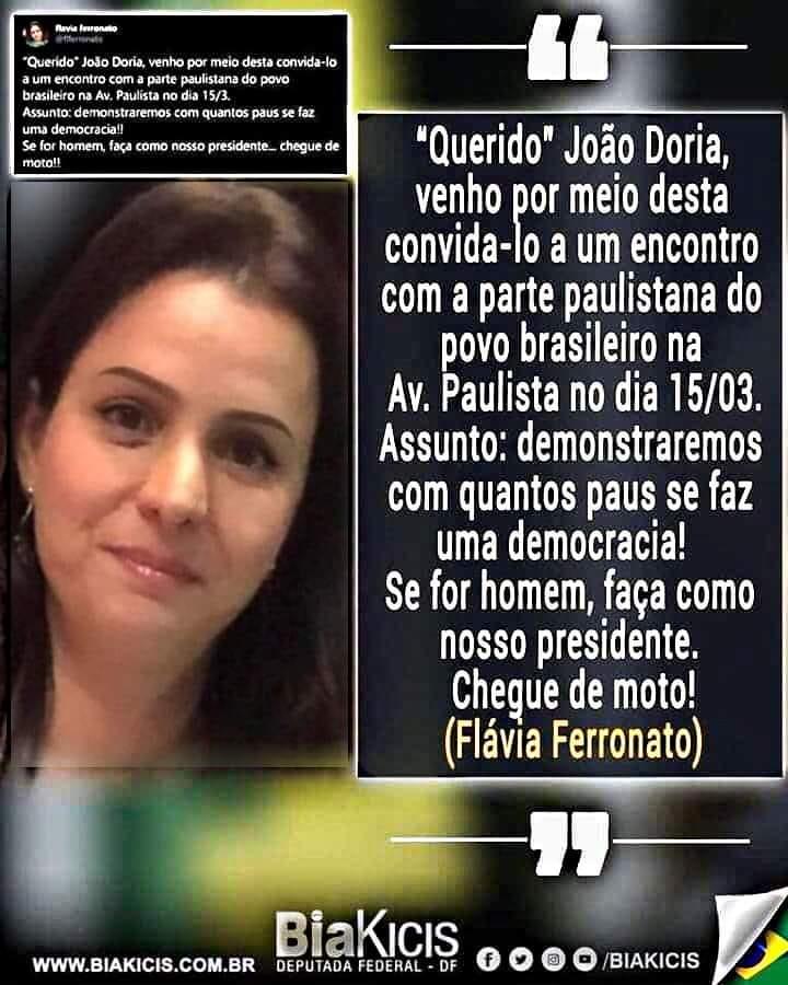 """""""Querido"""" João Dória..."""