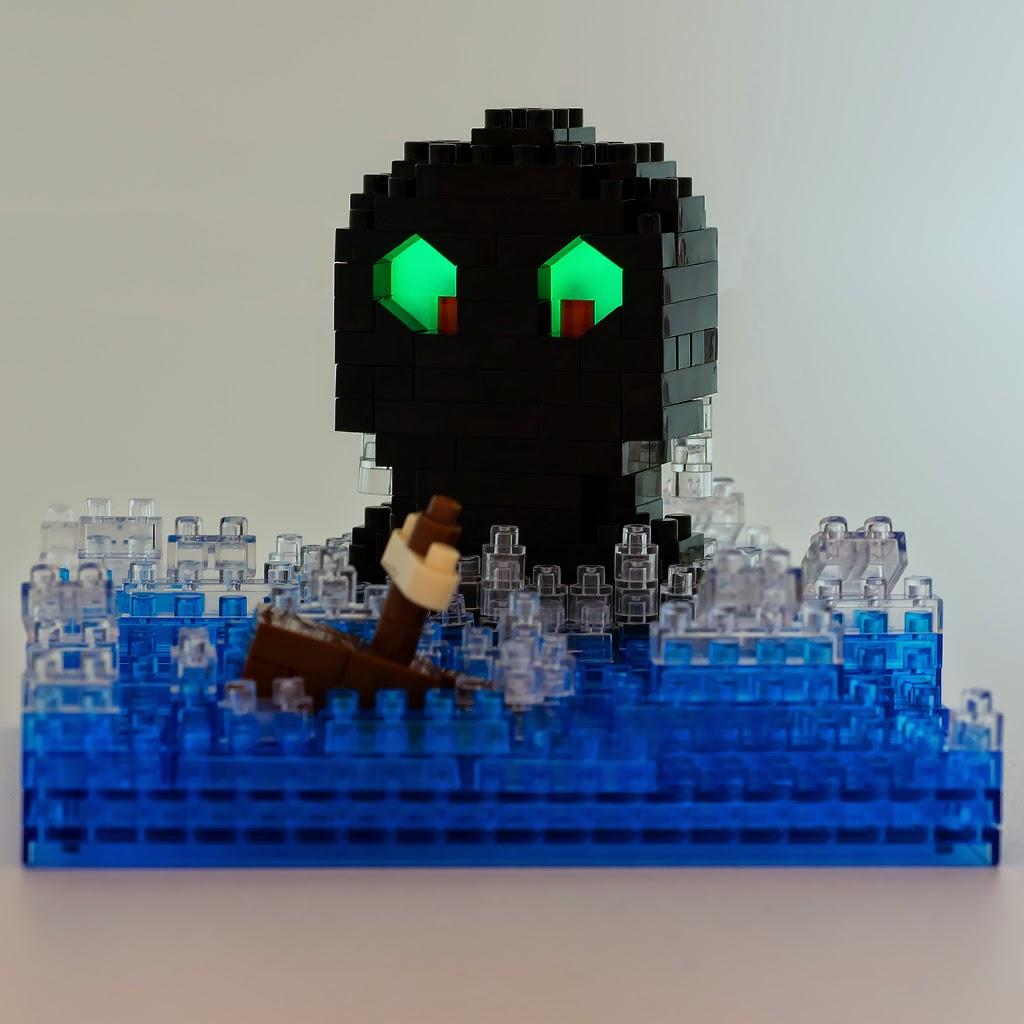 ナノブロックで作った 海坊主