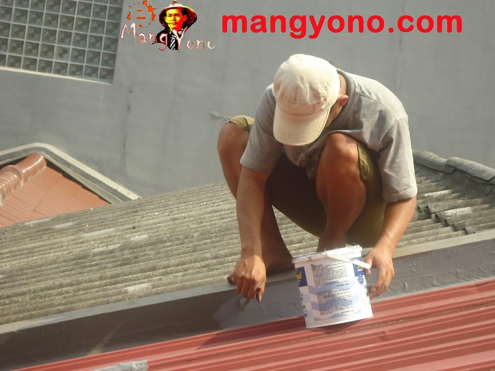 Agar atap rumah , nok, talang tidak bocor pakai Waterproofing