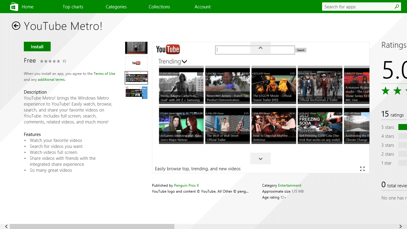 YouTube Metro