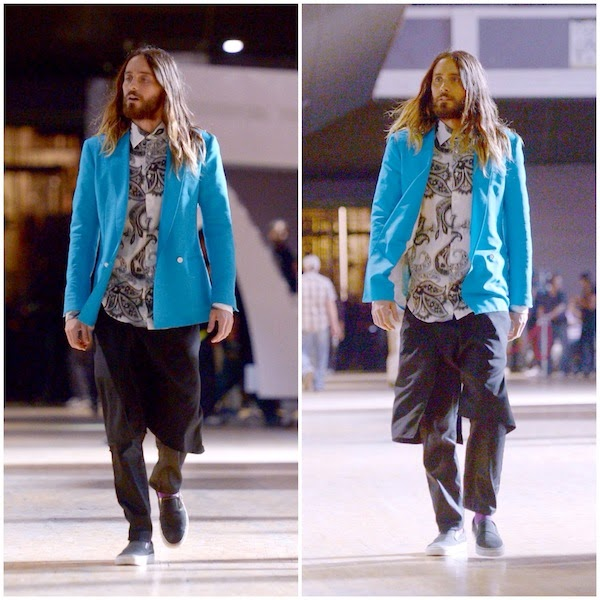 Jared Leto in Salvatore Ferragamo and Etro - 2014 iHeartRadio Music Awards