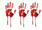 3 Bloody Handprints