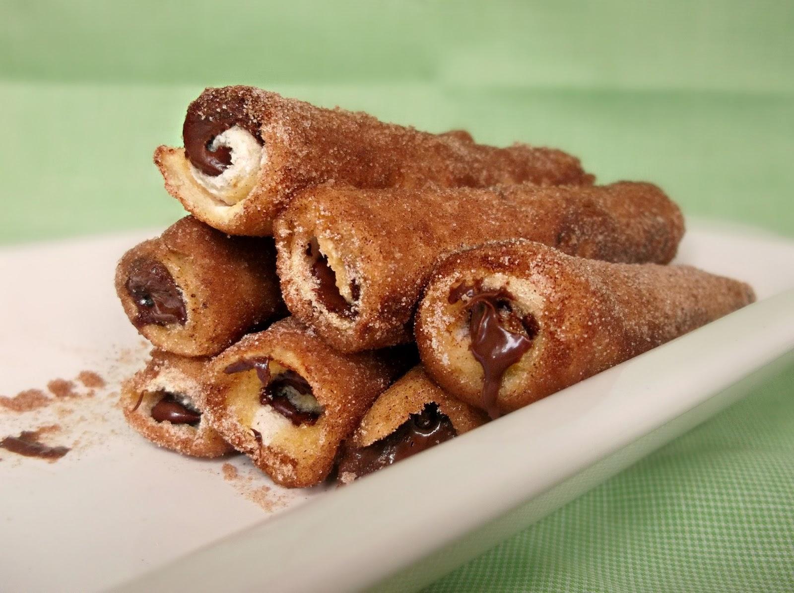 Nutella French Rolls With Cinnamon Sugar