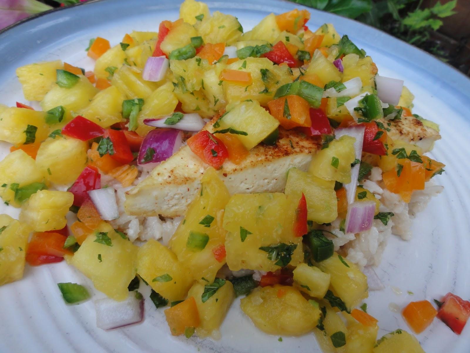 tofu with pineapple salsa grilled pineapple tofu of grilled tofu ...