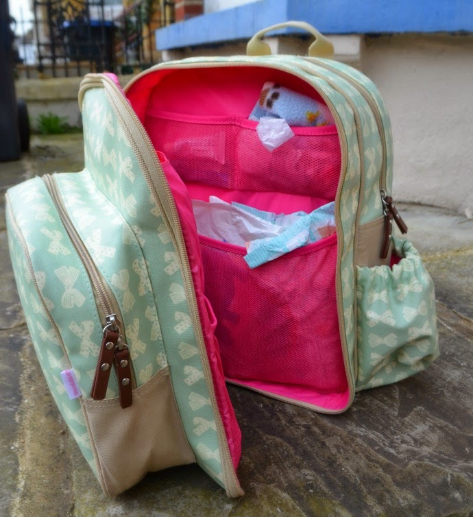 changing bag, what's in my changing bag, pink lining, nappy bag, wanderlust rucksack, pink lining review