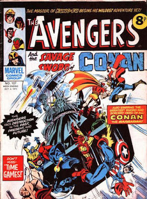 Marvel UK, Avengers #107, the Squadron Sinister