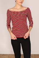 Bluza Stradivarius Dama Raspberry Red Stripes ( )