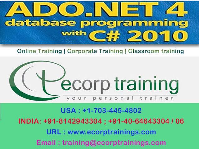 ADO.NET C# 2010 online training