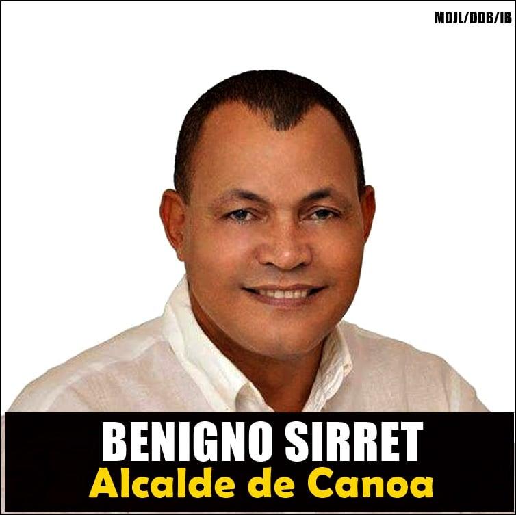 BENIGNO SIRRET, ALCALDE DE CANOA
