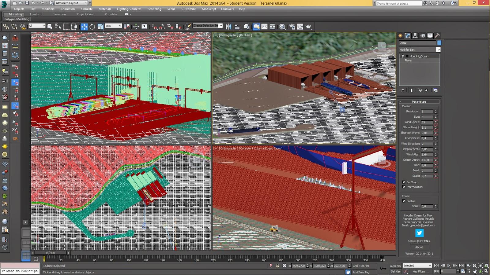 Tersane Animasyonu 3DSMax Modelleme Çalışması Detayı