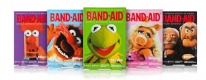 bandaid muppets 300x117 Muppet Band Aids Review and $50 Fandago Gift Card Giveaway!!