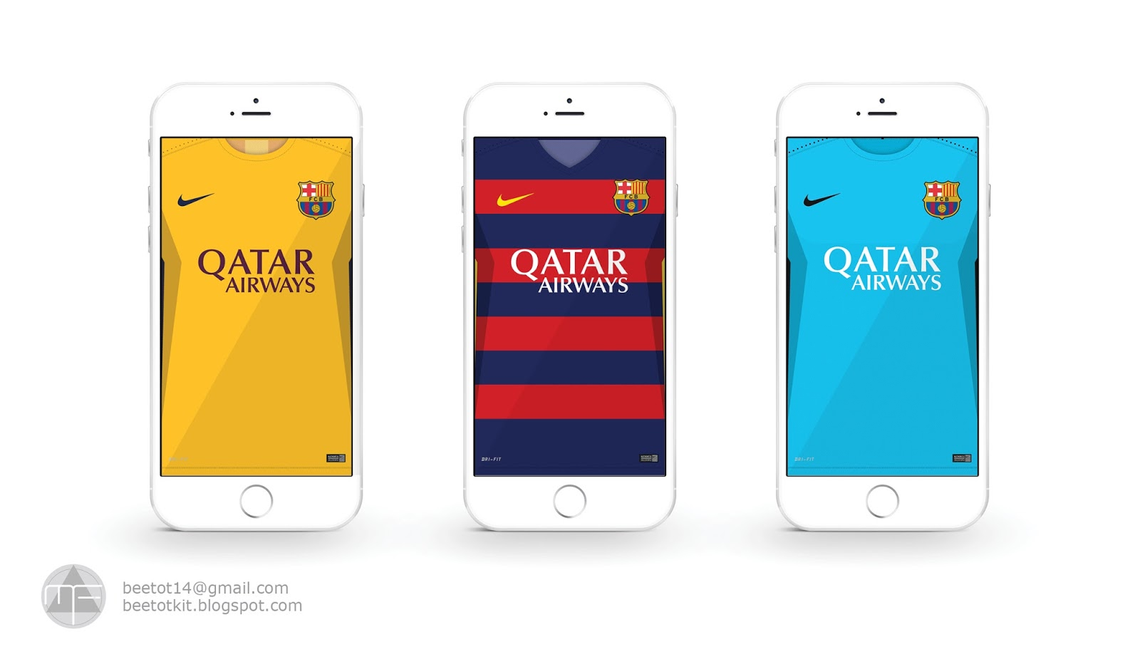 FC Barcelona Kit 15 16 Iphone 6 Wallpaper