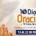 10 Dias de Oracion y 10 Horas de Ayuno 2014 | 13 - 22 de Febrero | Ministerio de la Mujer | Materiales y Videos