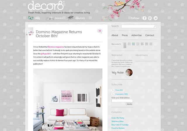 decor8 blog screenshot