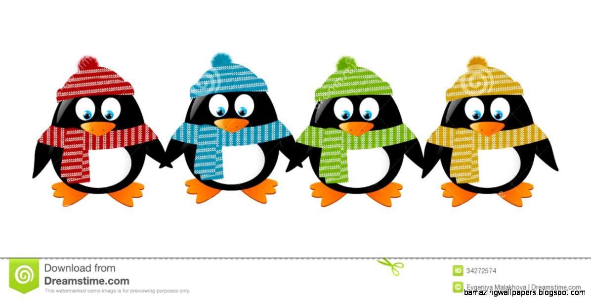 Cute Cartoon Penguins Stock Vector   Image 47505290