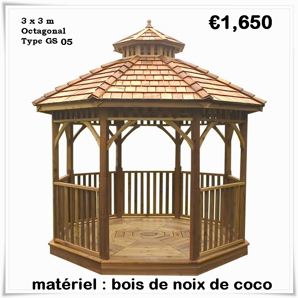 kiosque de jardin en bois pas cher gazebo. Black Bedroom Furniture Sets. Home Design Ideas