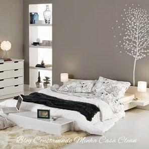 Construindo minha casa clean camas baixas em estilo - Cama tipo japonesa ...