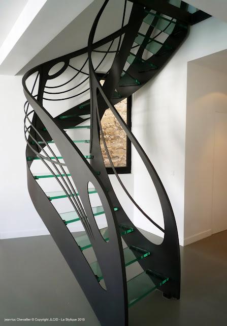 escalier design débillardé