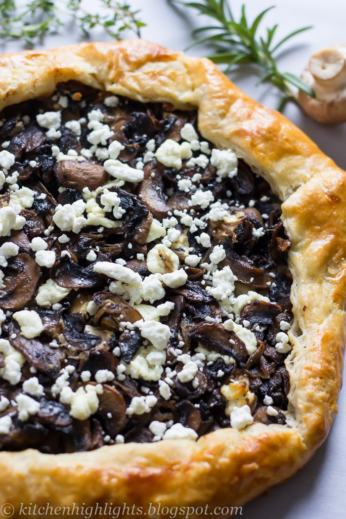 This delicious savory mushroom goat cheese galette that can be easily served as an appetizer or as an entrée alongside a fresh salad