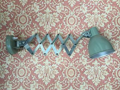 iluminação, vintage, articulado, lamp, candeeiro