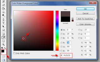 Cara mendapatkan kode warna css dan html menggunakan photoshop