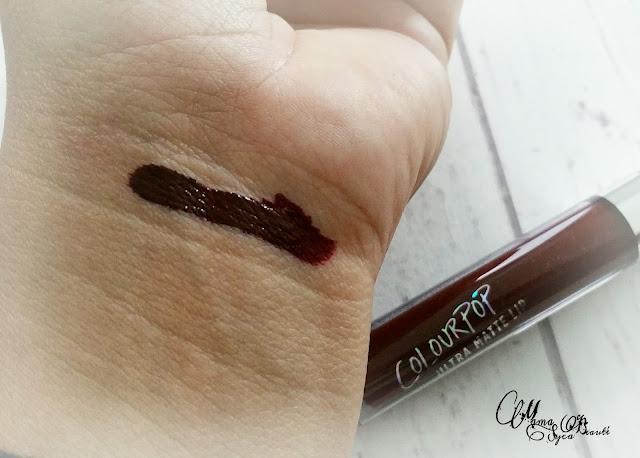 ColourPop makeup revue swatch lipstick matte lax shipito