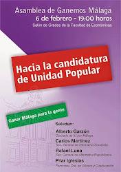 Asamblea de Ganemos Málaga hacia la candidatura de Unidad Popular