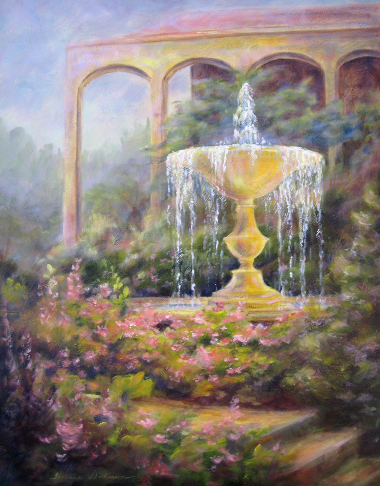 Tammie Dickerson\'s Artistic Journey: Fountain at Unity Villageunity village village