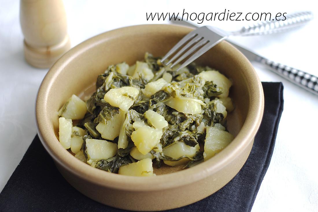 Acelgas rehogadas con patatas chef o matic pro - Recetas cocina chef matic pro ...