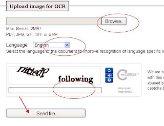 Cara Convert Image Text menjadi Text biasa - cara upload
