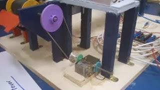 Motor reductor con poleas