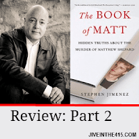 "Stephen Jimenez and the cover of the ""Book of Matt"""