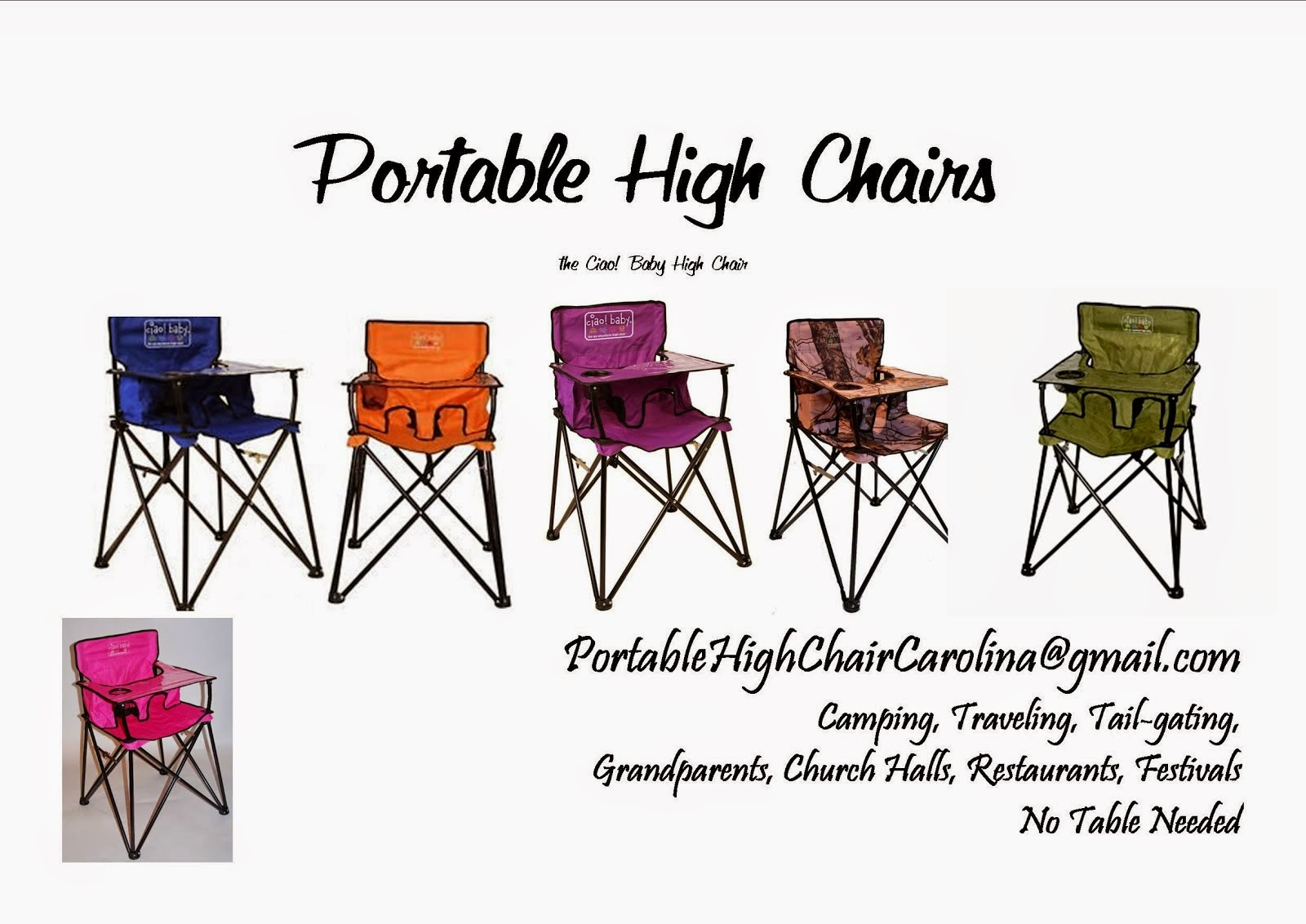 Portable, Go-Anywhere High Chair