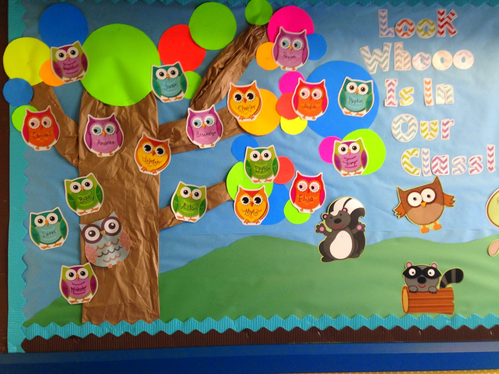 I Am Loving My Classroom Setup Design It Looks Fantabulous Theme Is Woodland Animals With Chevron And Polka Dots Cant Wait For The Kiddos To Start