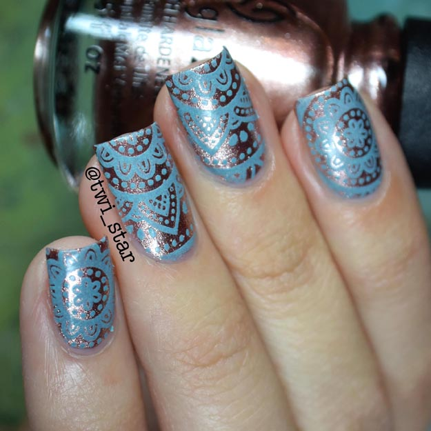 China Glaze Meet Me In The Mirage Tribal Stamping Nail Art