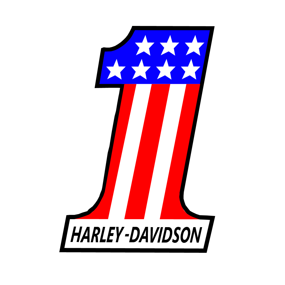 Step 27 various graphics work - Sigle harley davidson ...
