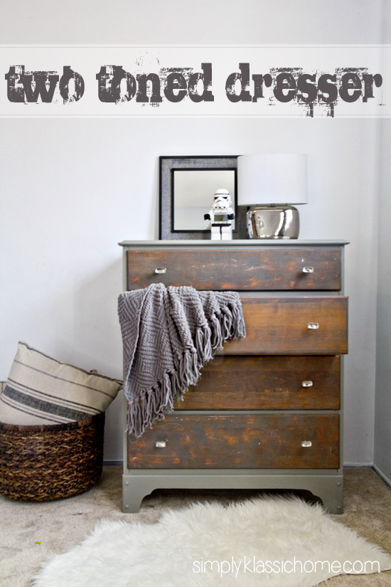 Two Toned Painted & Stained Dresser - Yellow Bliss Road