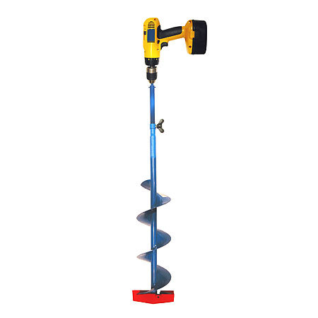 Auger valve image ice auger drill adapter for Ice fishing augers