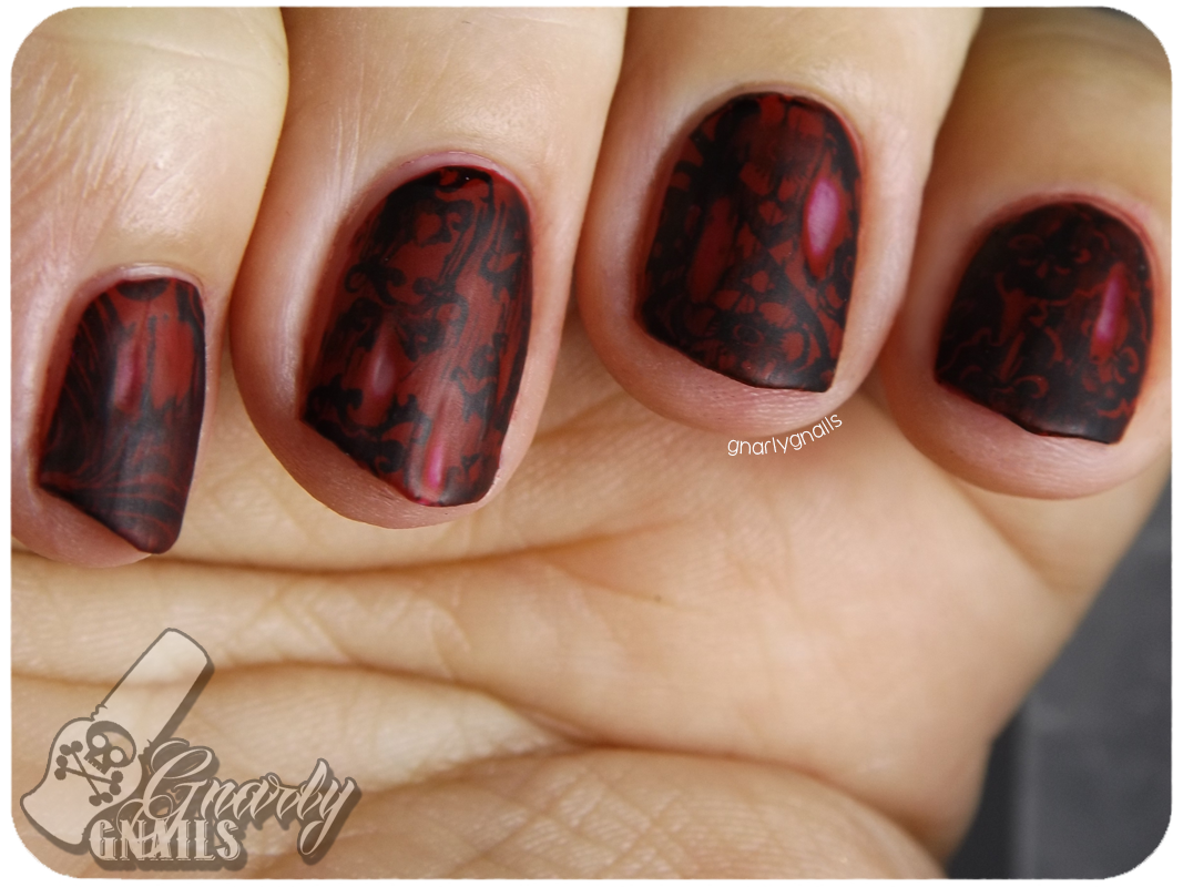 Nail-Art-A-Go-Go - Day 11 - Wallpaper - Gnarly Gnails