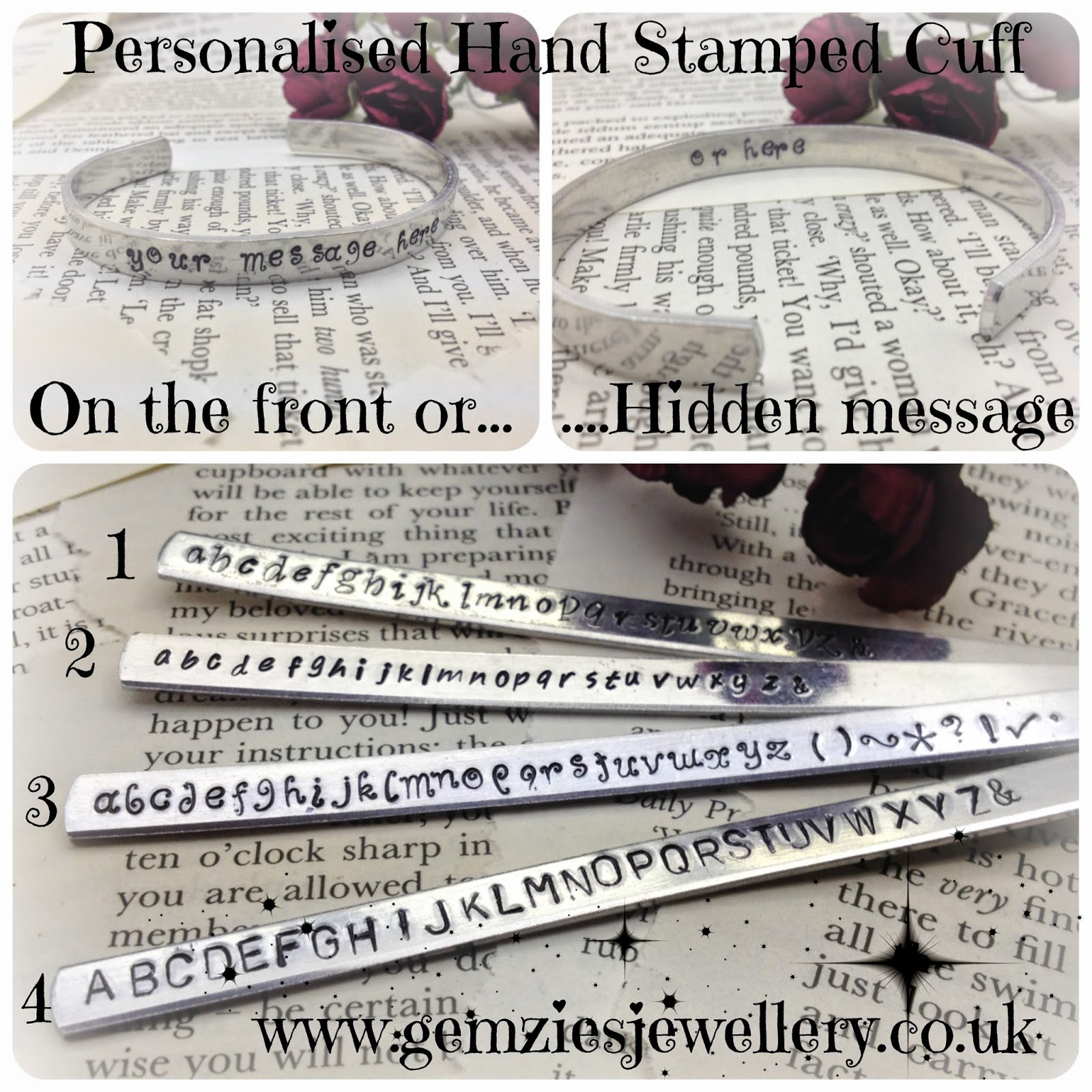 Hand stamped with your own message