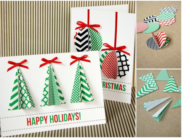 Tree Merry Christmas cards ideas