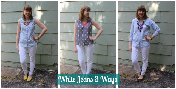 3 Ways to Style White Jeans | www.shealennon.com