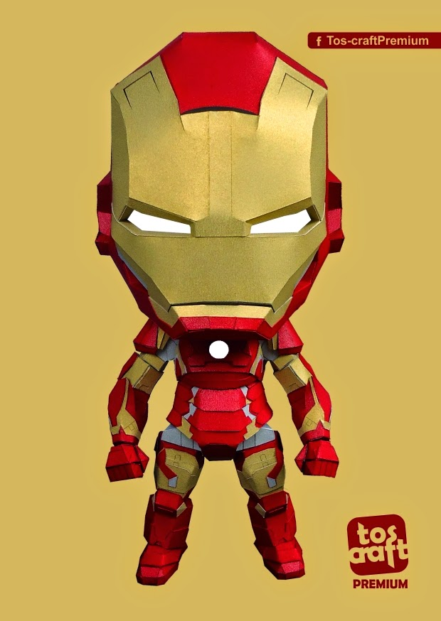 Chibi Iron Man Mark 43 Papercraft