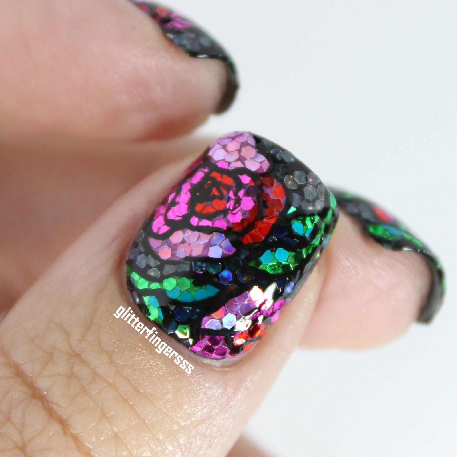 WNAC June   Glitter Pattern ~ Glitterfingersss in english