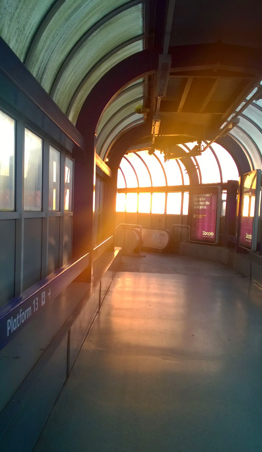 Sunlight at the train station