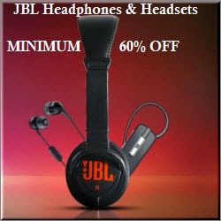 Flipkart : Buy JBL Headphones & Headsets Min 60% off from Rs.395 only