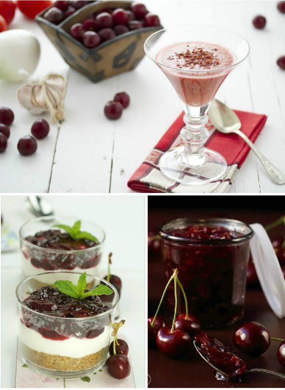imagen_cerezas_fiesta_idea_mesa_dulces_niños_cumpleaños_receta_gazpacho_tarta_mermelada